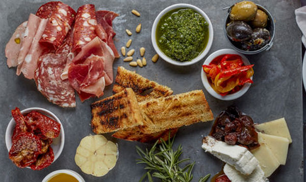 antipasto boards restaurant Chesterfield