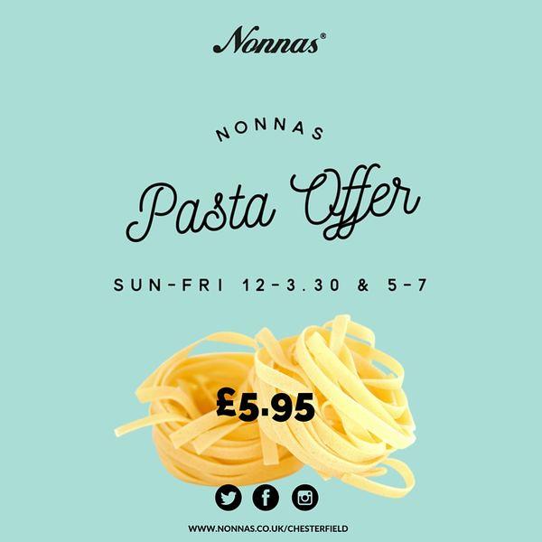 pasta offer restaurant Chesterfield