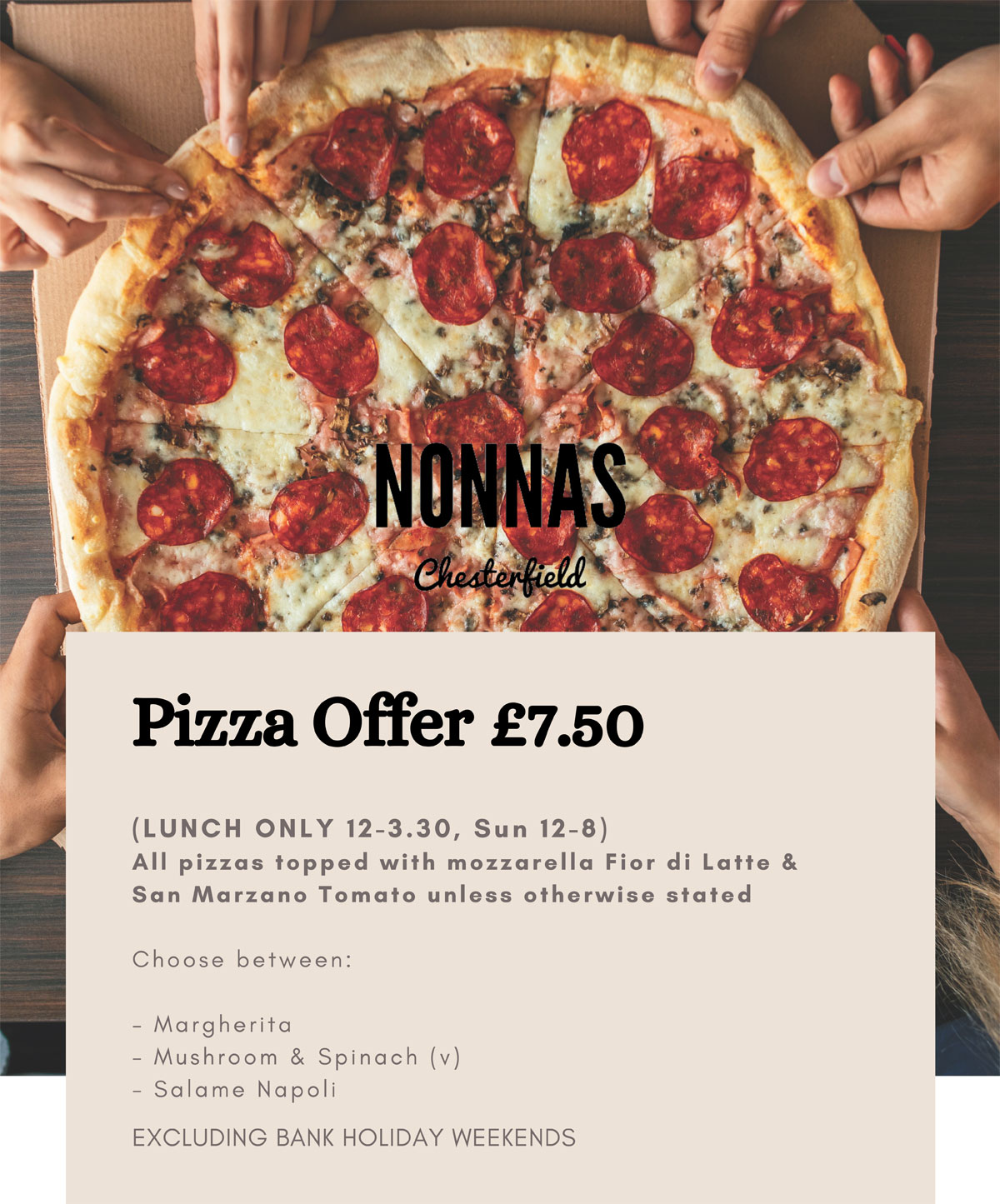 pizza offer restaurant Chesterfield