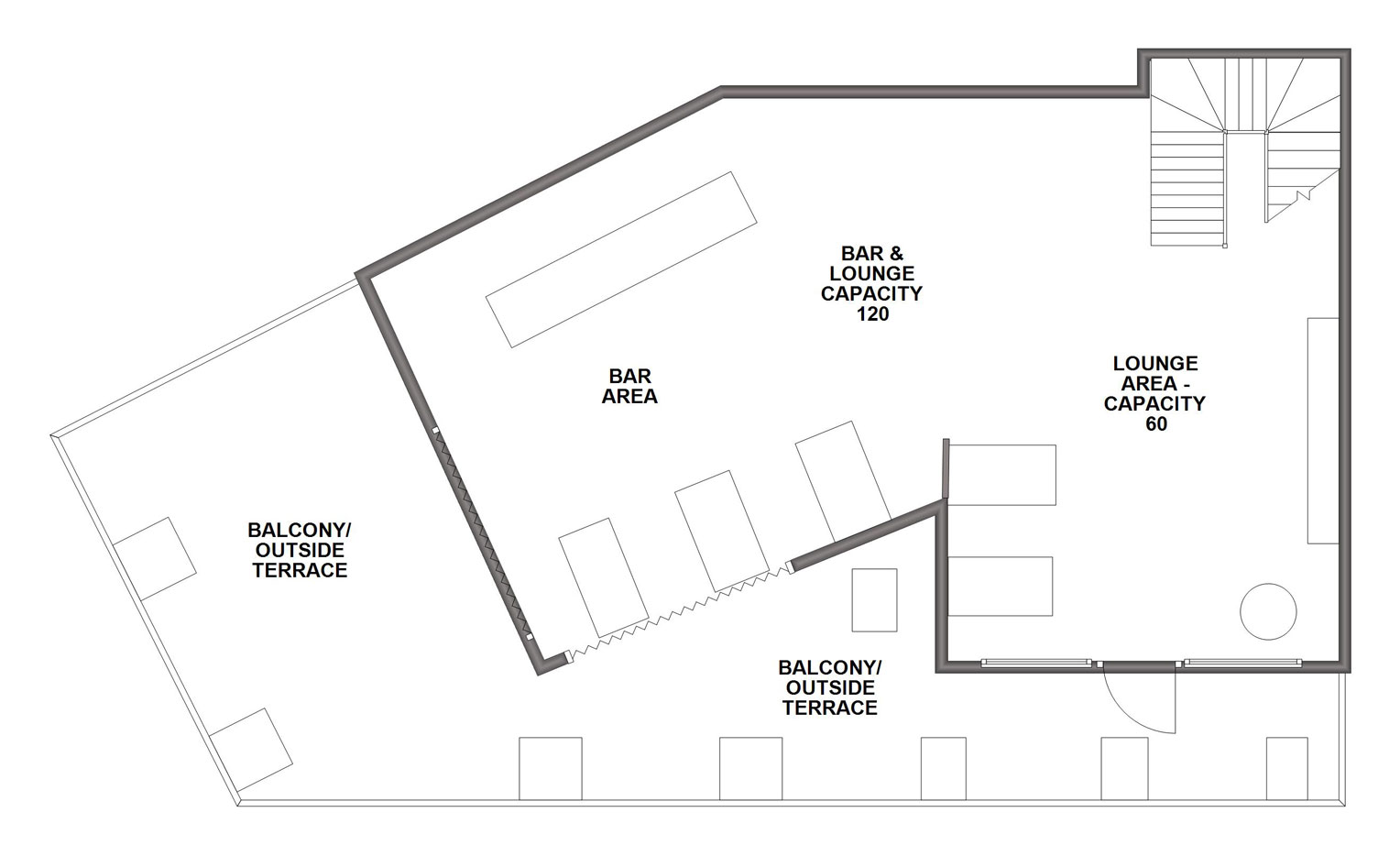 floor plan venue hire Chesterfield function rooms
