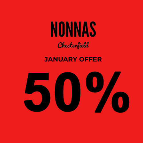 50% off in January
